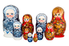 Nested dolls. The Russian nested dolls is photographed on white Royalty Free Stock Image