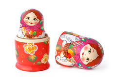 Nested dolls on white Royalty Free Stock Image