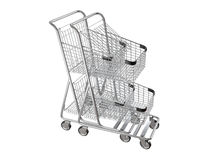 Nested shopping carts Royalty Free Stock Images
