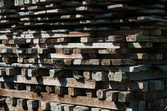 Nested Wood Plank Royalty Free Stock Photography