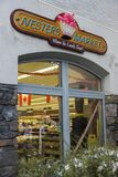 Nesters Market Grocery Store. Window in Downtown Banff Alberta Canadan Stock Photography