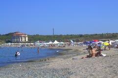 Nestinarka海滩夏令时视图,保加利亚 免版税库存照片