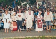 Nestinars avant la danse sur des charbons dans le village de Bulgari, Bulgarie Images libres de droits