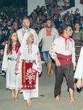 Nestinars avant la danse sur les charbons, le village des Bulgares en Bulgarie Photographie stock