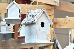 Nesting box for birds royalty free stock photos