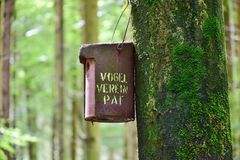 Nesting Box, Forest, Tree, Bemoost Royalty Free Stock Photography