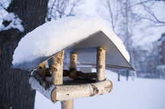 Nesting box in the winter Royalty Free Stock Photography