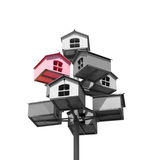 Nesting boxes of grey and pink colors Royalty Free Stock Image