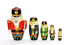 Nesting Doll Soldiers stock photos