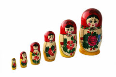 Nesting dolls Royalty Free Stock Images