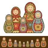 Nesting Dolls. Happy Family of decorative nesting dolls Stock Images