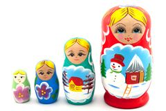 Nesting Dolls Royalty Free Stock Photo