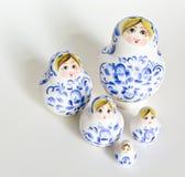 Russian nesting dolls family Stock Photos
