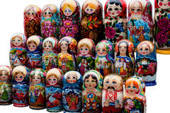 Nesting Dolls or Matreshki Royalty Free Stock Photography