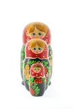 Nesting dolls in a row Royalty Free Stock Images