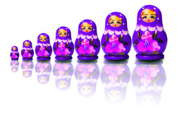 Nesting dolls Stock Image