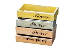 Nesting Wooden Flower Pot Royalty Free Stock Photo