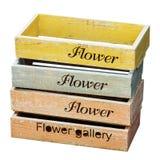 Nesting Wooden Flower Pot Royalty Free Stock Image