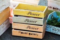 Nesting Wooden Flower Pot Stock Photos