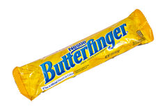 Nestle Butterfinger Czekoladowy bar obraz royalty free