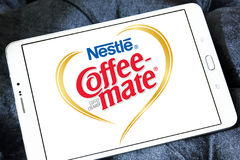Nestle coffee mate logo. Logo of nestle coffee mate on samsung tablet Royalty Free Stock Photo