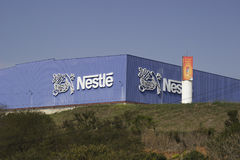 Nestle-Fabrik Stockbild