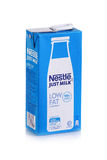 Nestle milk product shot. SHAH ALAM,MALAYSIA- FEBRUARY 1, 2017 Illustrative editorial milk drink nestle product shoot in the studio isolated on white background Stock Photography