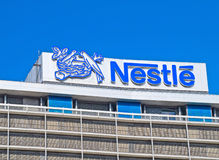 Nestle S.A. Frankfurt am Main, Germany - September 30, 2012: Frankfurt Office of Nestlé S.A. which is a Swiss multinational and the largest food company in the Stock Image