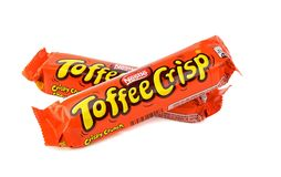 Nestle Toffee Crisp chocolate bars Stock Images