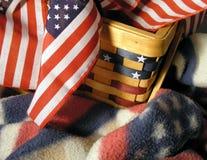 Nestled con América Imágenes de archivo libres de regalías