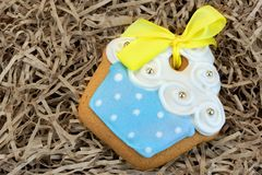 Nestled Glazed Gingerbread With Sweet Decoration Stock Images