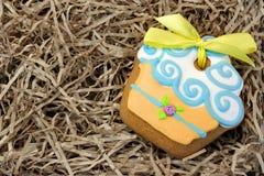 Nestled Glazed Gingerbread With Sweet Decoration Royalty Free Stock Image