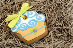 Nestled Glazed Gingerbread With Sweet Decoration Royalty Free Stock Photos
