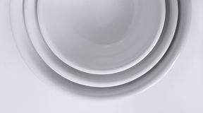 Nestled White Bowls Stock Photos