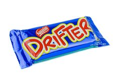 A Nestles Drifter chocolate bar Royalty Free Stock Photography