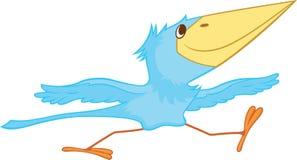Nestling de passeio azul ilustração stock