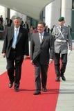 Nestor Carlos Kirchner and German Chancellor Gerhard Schroeder Stock Image