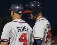 Nestor Perez and Braxton Davidson, Rome Braves Royalty Free Stock Image