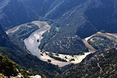 Nestos river at Greece Royalty Free Stock Images