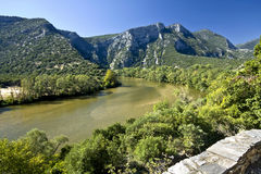 Nestos river at Greece Stock Photography