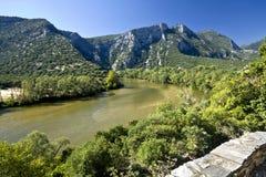 Nestos river at Greece stock photography