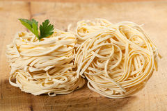 Nests of pasta. Royalty Free Stock Photo