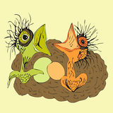 Nestvogel Stock Illustratie
