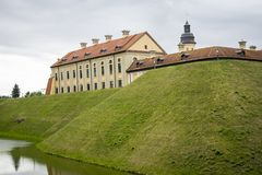 Nesvezh castle palace and castle complex architectural monument of Belarus royalty free stock image