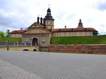 Nesvizh城堡 迟来的 免版税库存照片