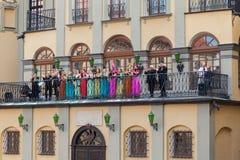 Nesvizh, Λευκορωσία: 05 06 2014: απόδοση των καλλιτεχνών οπερών Στοκ Εικόνες