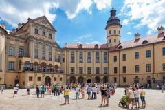 Nesvizh, Λευκορωσία: 05 06 2014: απόδοση των καλλιτεχνών Στοκ εικόνα με δικαίωμα ελεύθερης χρήσης