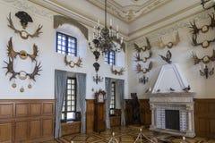 Nesvizh, 5.2017 λευκορωσικός-Αυγούστου: Η αίθουσα κυνηγιού του Castle Στοκ εικόνα με δικαίωμα ελεύθερης χρήσης