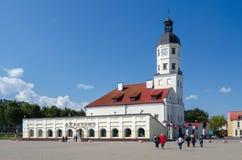 Nesvizh οικοδόμηση της περίστυλης αίθουσας Ουγγαρία πόλεων Στοκ εικόνα με δικαίωμα ελεύθερης χρήσης