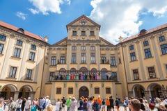 Nesvizh, Belarus:05.06.2014: artists performance  Royalty Free Stock Photo
